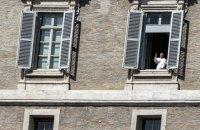 Папа Римський вперше з початку епідемії звернувся до вірян з вікна Апостольського палацу