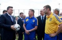 Янукович: сборная Украины в матче со Швецией показала характер