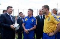 Янукович: збірна України в матчі зі Швецією показала характер