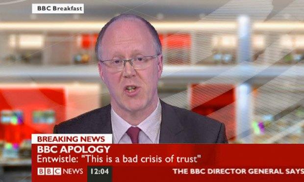 Гендиректор Би-би-си Джордж Энтуисл извиняется за скандальный выпуск новостей