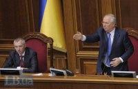 Рыбак открыл заседание парламента