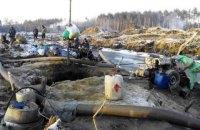 В Ровенской области 200 копателей янтаря оказали сопротивление полицейским