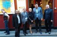 """Открытие """"Недели украинского кино"""" в Париже посетил Михаил Саакашвили"""
