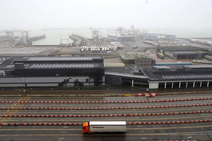 Вантажівка в порту м.Дувр, Великобританія