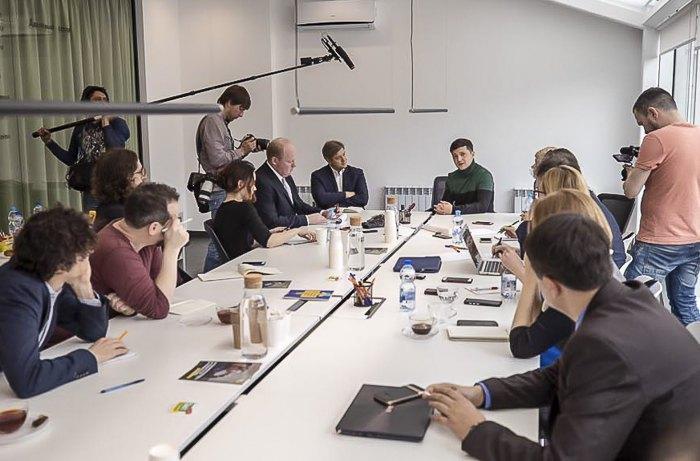 Встреча кандидата в Президенты Украины Владимира Зеленского с журналистами иностранных медиа, 5 марта 2019.