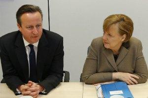 Кемерон і Меркель закликали Росію засудити події на сході України