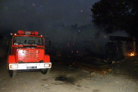 В Черниговской области горели 7 зданий овощехранилищ