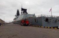 """ВМС України провели тренування на британському есмінці """"Dragon"""""""
