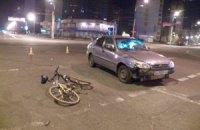 В Киеве снова сбили велосипедиста