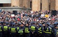 Полиция снесла палатки митингующих  против жесткой борьбы с наркотиками в Тбилиси