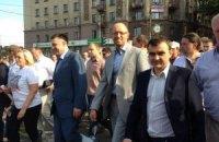 """Оппозиция провела акцию """"Вставай, Украина"""" в Николаеве"""