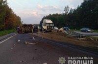 Трасса Киев-Чоп частично заблокирована из-за ДТП с фурой