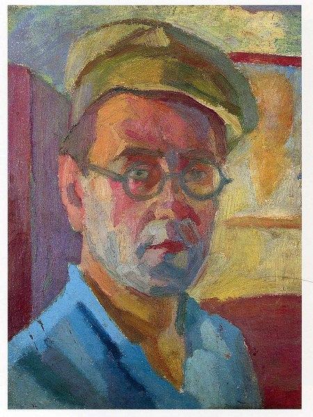 Автопортрет. 1935. Картон, олія. 36х16,5