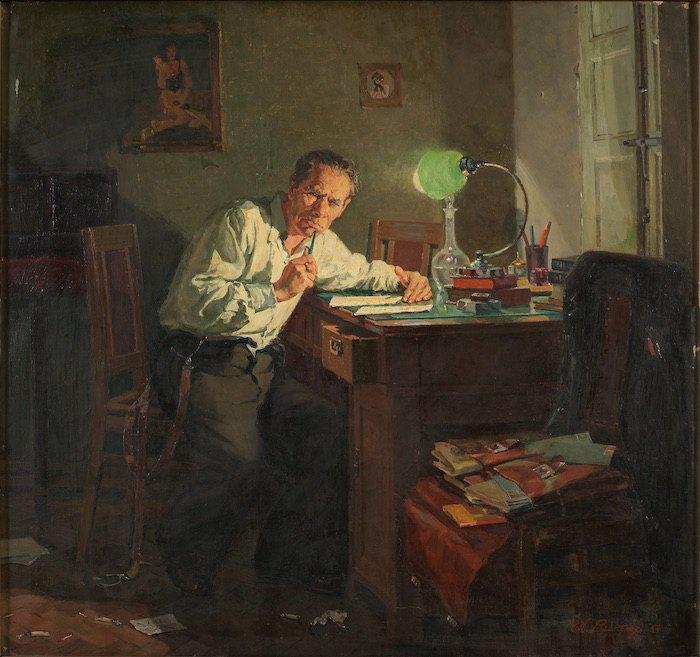 """Абрам Векслер. """"Клеветник"""". 1954. Из собрания Одесского художественного музея"""