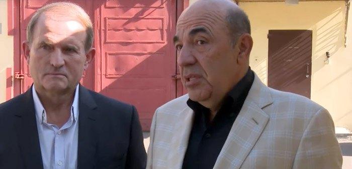 Виктор Медведчук и Вадим Рабинович во время визита в Лефортово