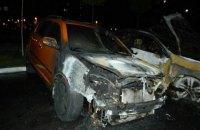 Неизвестный сжег три автомобиля на стоянке в Голосеевском районе Киева