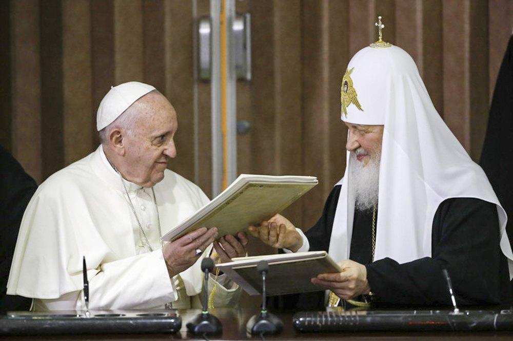 Папа Франциск і Патріарх Кирило підписали спільну декларацію, 13 лютого 2016