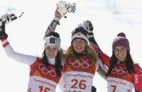 Чешская горнолыжница Ледецка завоевала для своей страны первое «золото» Олимпиады