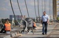 Кличко перевірив стан ремонту Подільського моста