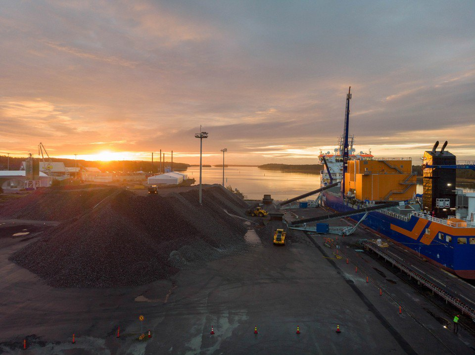 Будівництво Nordstream 2 в порту Інко, Фінляндія.