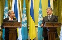 Порошенко обсудил с генсеком ООН введение миротворцев на Донбассе