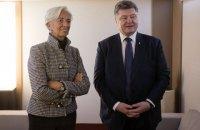 Порошенко обсудил с Лагард выделение третьего транша МВФ