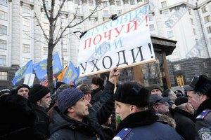 Чернобыльцы - правительству: не заставляйте нас умирать под Кабмином