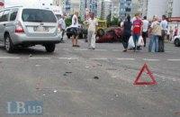В Луганске легковушка перевернула маршрутку с пассажирами