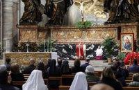 Папа Римський провів службу у честь Вербної неділі практично без вірян