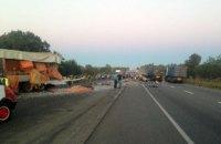 Три человека погибли из-за столкновения фур возле Полтавы