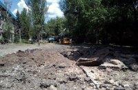 В Донецке снарядами разрушены два частных дома