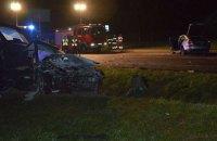 В пограничной зоне Польши столкнулись два автомобиля из Украины, погибла 19-летняя девушка
