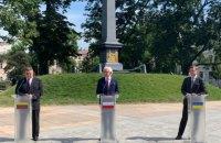 Міністри закордонних справ Литви, Польщі та України виступили зі спільною заявою про події в Білорусі