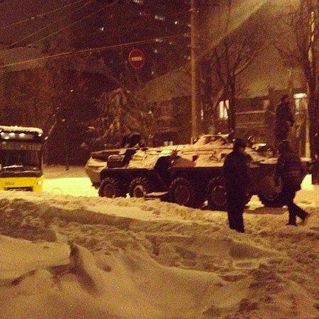 БТРы в Киеве