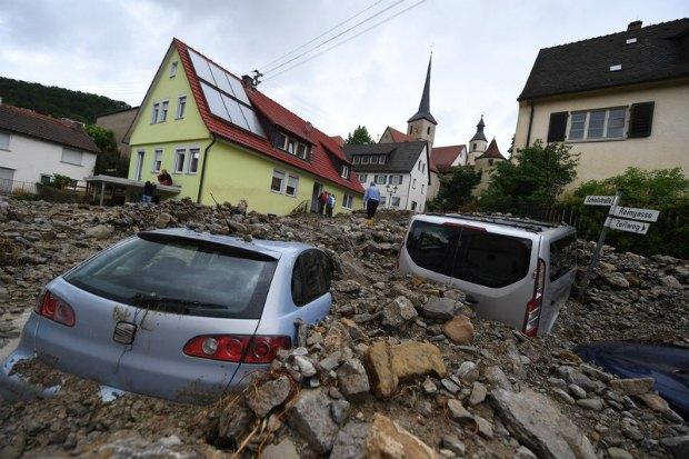 Последствия наводнения на юге Германии