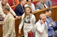 Депутаты пришли в Верховную Раду в вышиванках