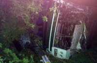 15 человек получили травмы в ночной аварии автобуса под Днепром