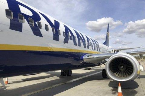 Ryanair до весны приостанавливает 70% рейсов из Киева