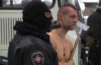 """Обнародовано видео издевательств """"Беркута"""" над голым демонстрантом"""