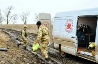 """Боевики уничтожили автомобиль """"Христианской службы спасения"""" возле Опытного"""