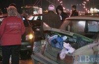П'яний водій заблокував рух на Московському мосту в Києві