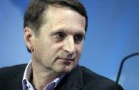 Спікер Держдуми виступив за вибори президента України