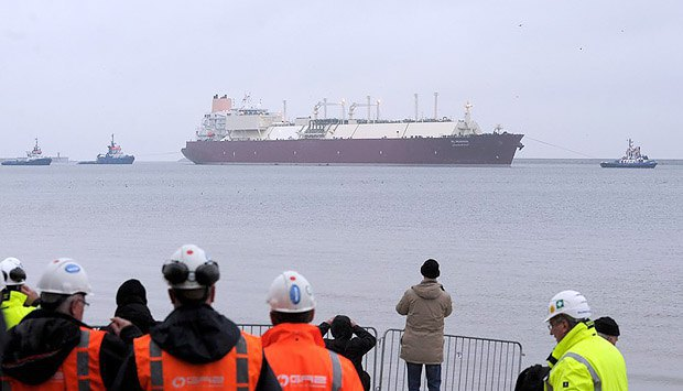 Катарский танкер с СПГ