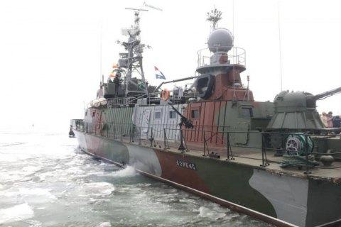 Министры иностранных дел Дании, Чехии и Украины посетили корабль морской охраны в Мариуполе