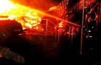 """Опубликовано видео тушения """"Виктории"""" с нагрудной камеры пожарного"""