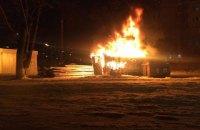 На месте строительства супермаркета в Киеве сгорела бытовка