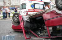 ДТП в Киеве: тройная авария на Позняках