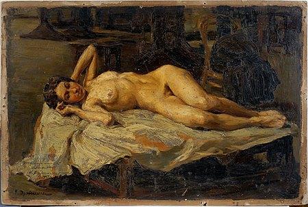 Натурниця. 1907. Картон, олія. 31,5х46,5