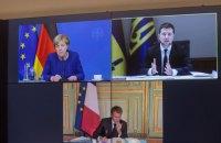 Зеленський обговорив з Меркель і Макроном підготовку нормандського саміту