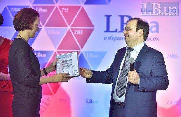Главный редактор Lb.ua Олег Базар и Дарья Бадьер, Lb.ua